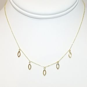Jewelry - NEW 925 Sterling Silver 18K Gold Necklace